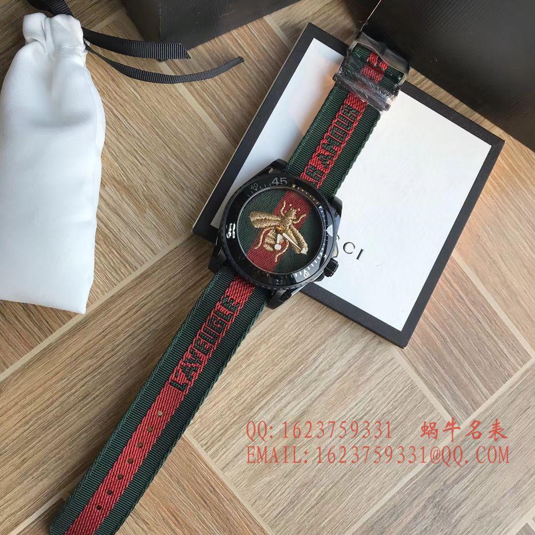 【香港原单 支持专柜验货】Original Gucci 古驰新款刺绣款Le Marché des Merveilles系列男表 /