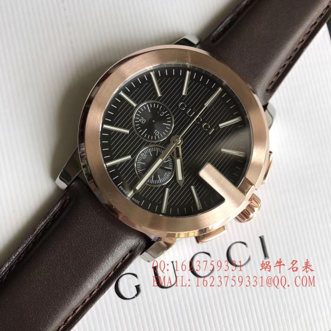 【香港原单 支持专柜验货】Original. Gucci,古驰海报款石英计时男表 / GUCCI 11