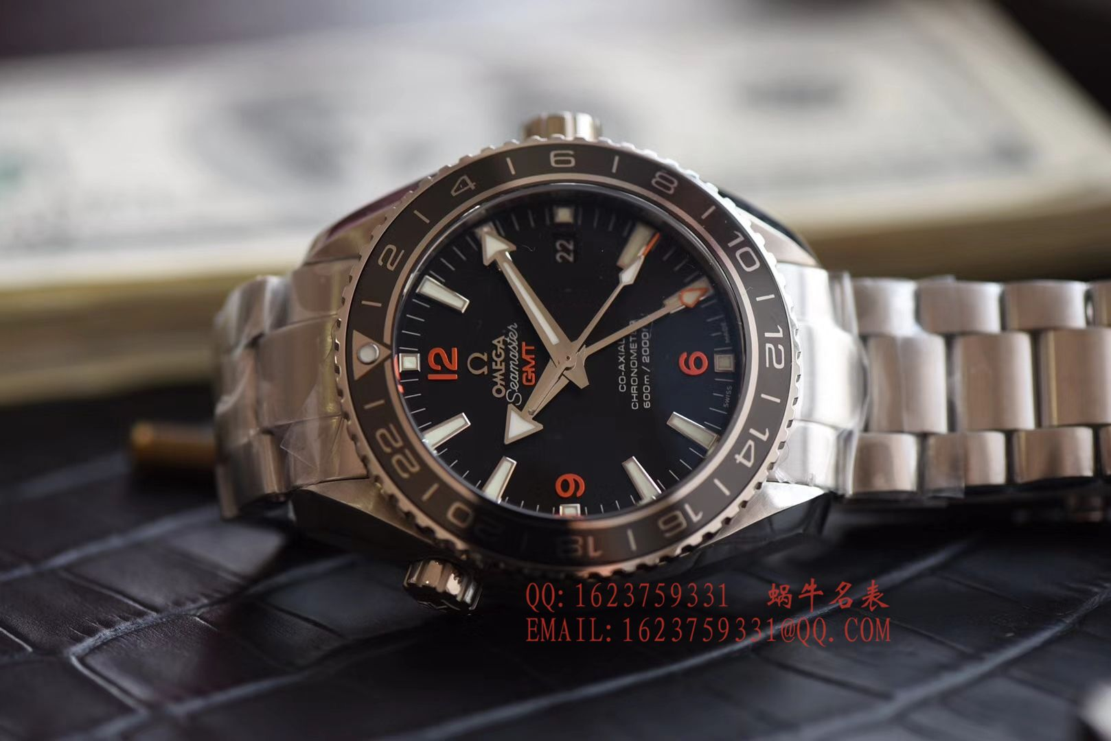 【KW一比一超A高精仿手表】欧米茄海马海洋宇宙600米腕表系列232.30.44.22.01.002GMT腕表