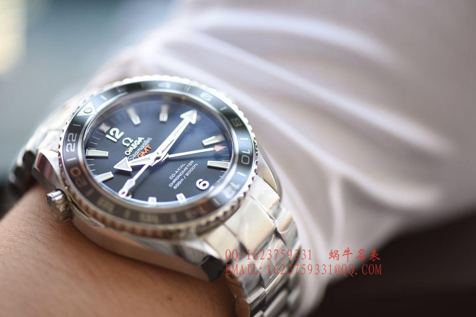 【KW一比一超A高仿手表】欧米茄 海马海洋宇宙600米232.30.44.22.01.001 GMT双时区腕表 / M046