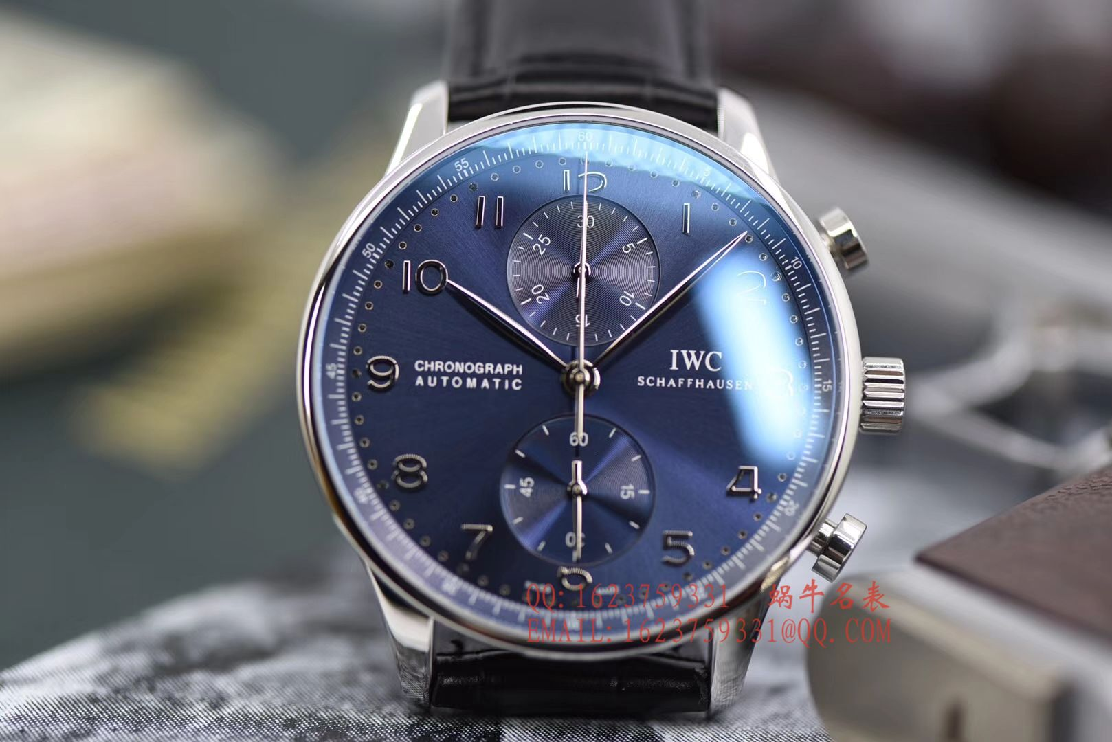 【YLV7版本顶级复刻手表】万国IWC葡萄牙系列计时IW371491腕表《蓝面葡计》 / WG315