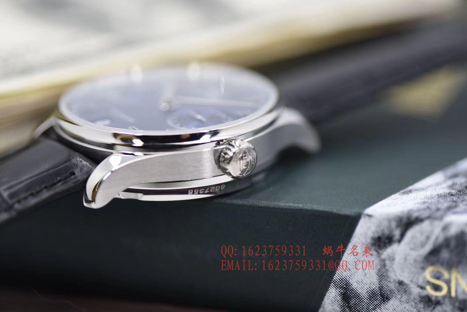 【独家视频评测ZF一比一超A高仿手表V5版本】万国葡萄牙七天7 DAYS系列 IW500710腕表《葡七蓝面》