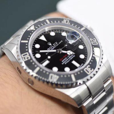 【独家视频评测VR一比一超A高仿手表】劳力士ROLEX海使型系列Rolex Sea-Dweller 50周年【单红】126600腕表价格报价