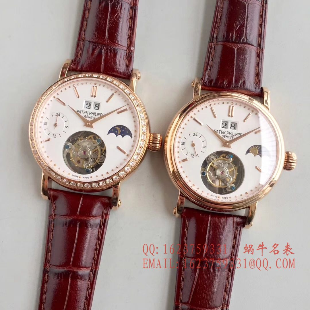 【BM一比一超A高仿手表】百达翡丽大日历月相陀飞轮腕表 / BD144