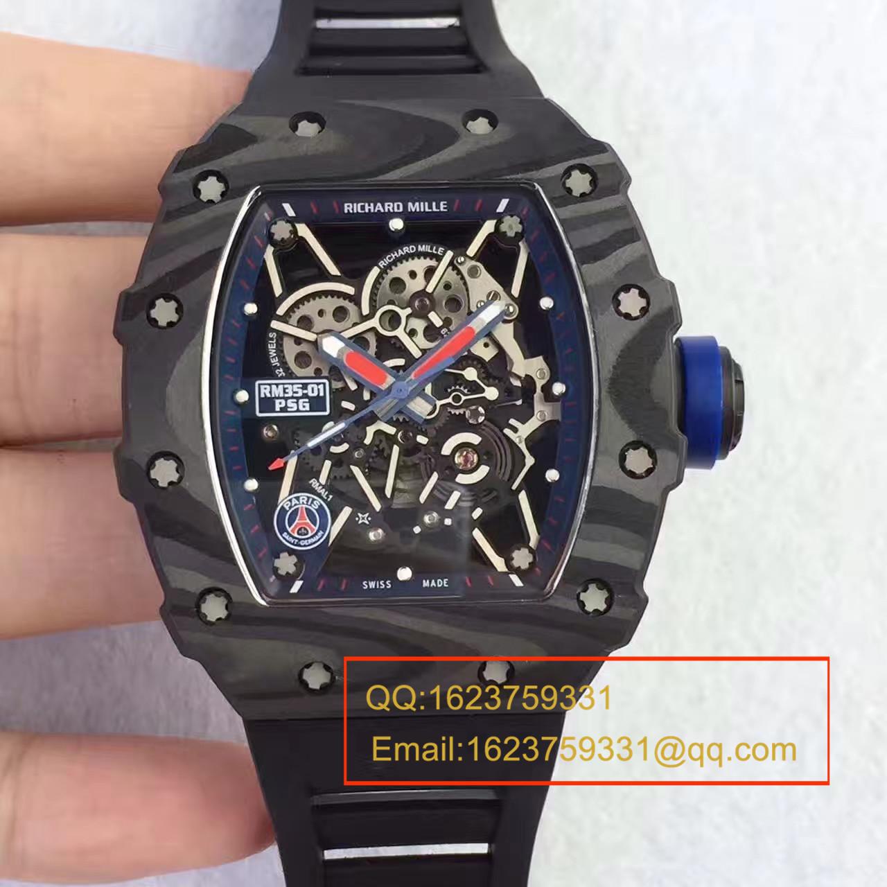 【独家视频评测KV一比一超A高仿手表】理查德米勒男士系列RM 35-01 RAFAEL NADAL腕表 / 理查德米勒RM035-01