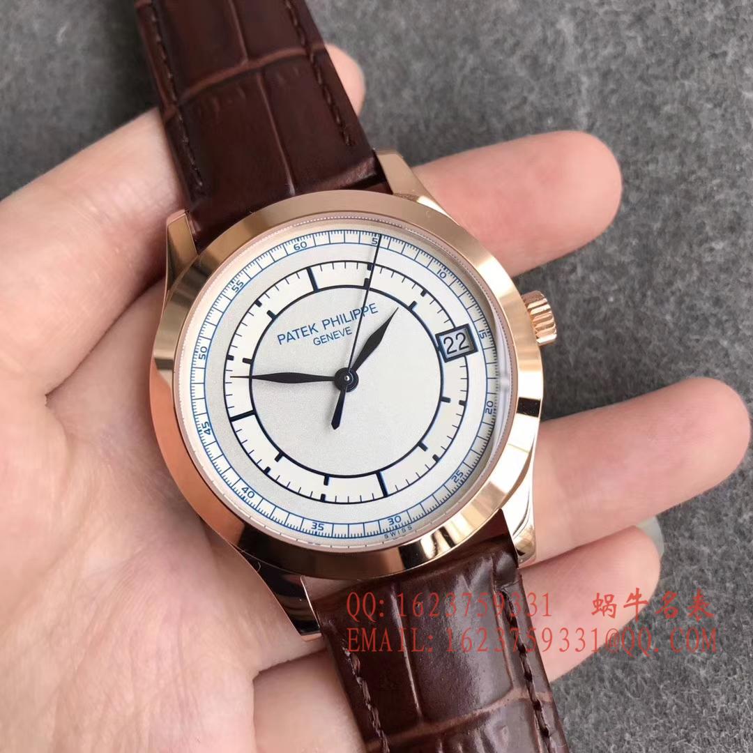 【台湾厂1:1顶级复刻手表】百达翡丽古典表系列5296R-001 玫瑰金腕表 / BD174