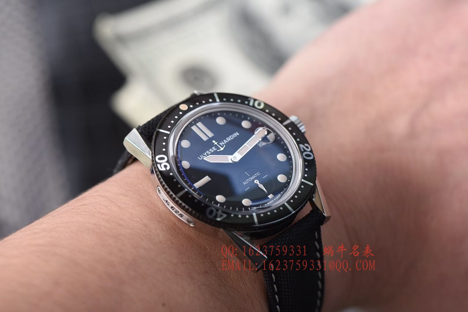【视频评测神器:一比一完美高仿手表】雅典表Ulysse Nardin Diver潜水表系列Le Locle 勒洛克潜水腕表3203-950