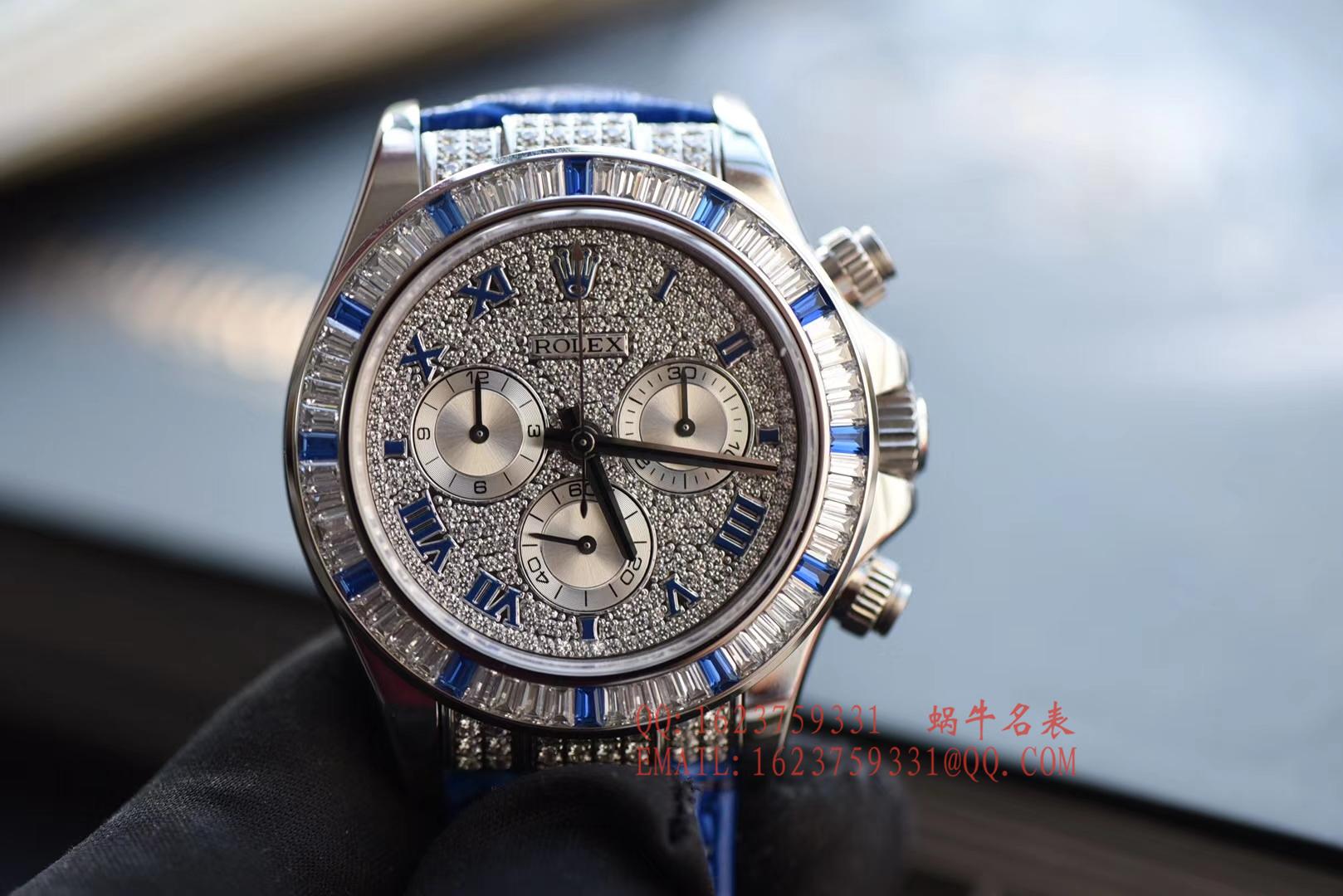 【台湾一比一高仿手表】劳力士宇宙计型迪通拿系列116599 12sa密镶钻表面配蓝珐琅罗马数字腕表 / RBD201