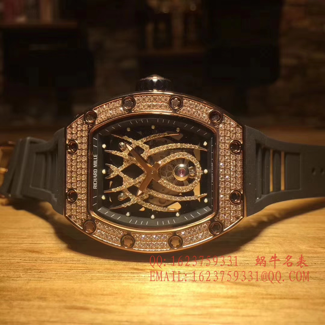 里查德米尔女士系列RM 19-01 TOURBILLON NATALIE PORTMAN腕表(蜘蛛镶钻女表) / RM 19-01