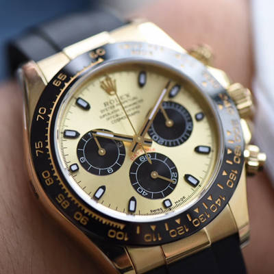 【AR一比一超A高仿手表】劳力士宇宙计型迪通拿系列黄金面116518LN腕表
