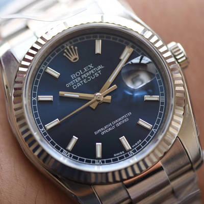 【AR一比一超A高仿表】劳力士日志型36系列116200-72600蓝盘腕表
