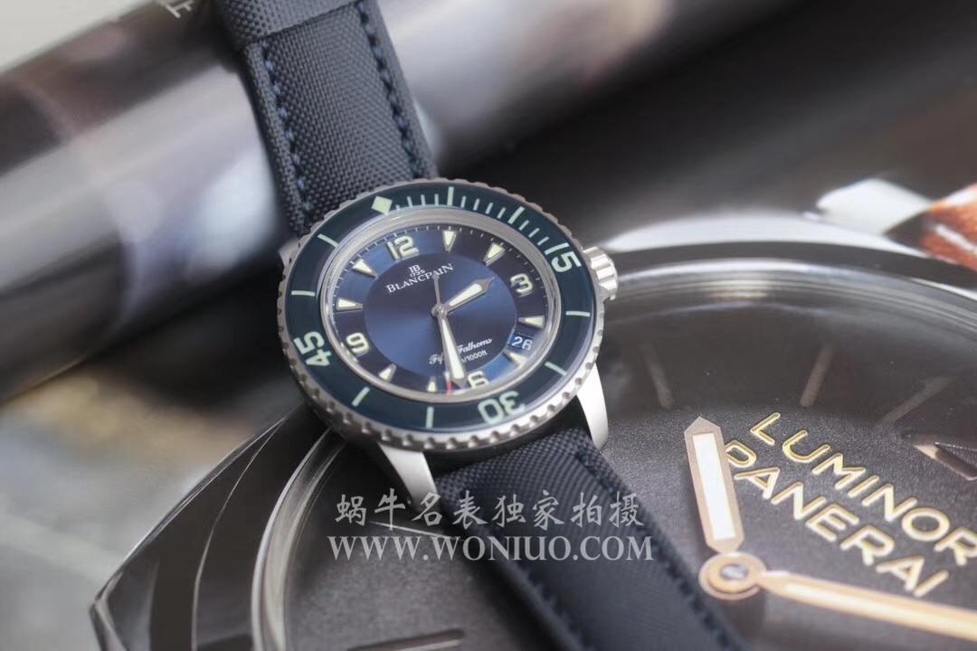 【ZF厂顶级复刻手表】宝珀五十噚系列5015-12B40-O52A蓝面背透腕表 / BP038