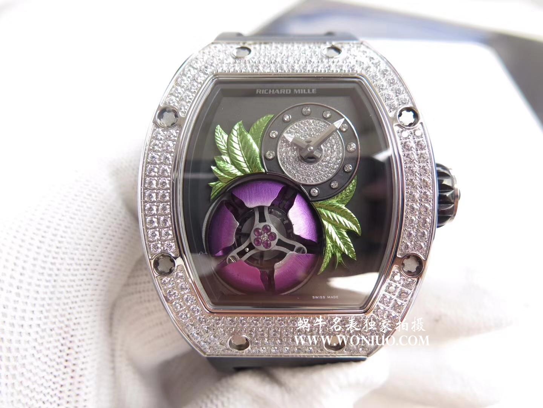 【RM一比一超A高仿手表】里查德米尔女士系列RM 19-02 TOURBILLON FLEUR飞行陀飞轮腕表腕表 / RM 019