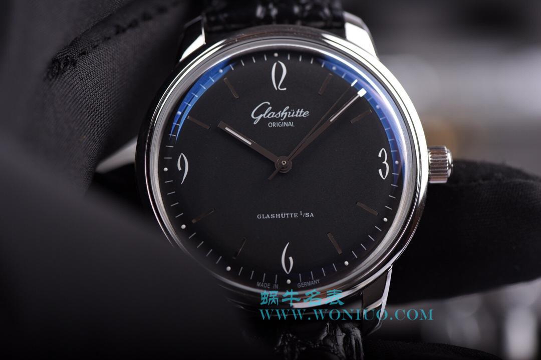 【YL厂出品】格拉苏蒂原创20世纪复古系列1-39-52-04-02-04机械腕表《黑面》 / GLA021