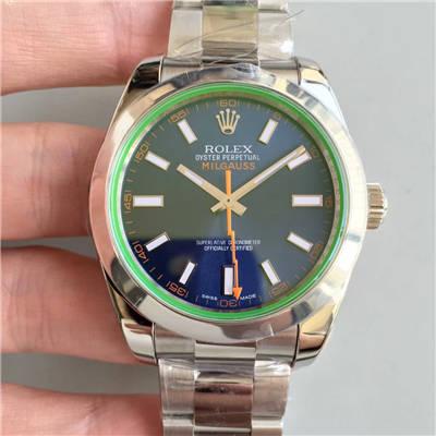 【AR一比一超A高仿手表】劳力士116400-GV-72400蓝盘腕表《蓝色闪电》116400-GV-72400黑盘腕表《黑色闪电》价格报价