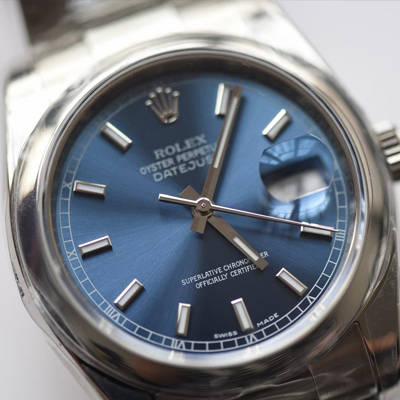 【AR一比一超A高仿手表】劳力士日志型系列116200-72600蓝盘36毫米中性腕表男女均可戴