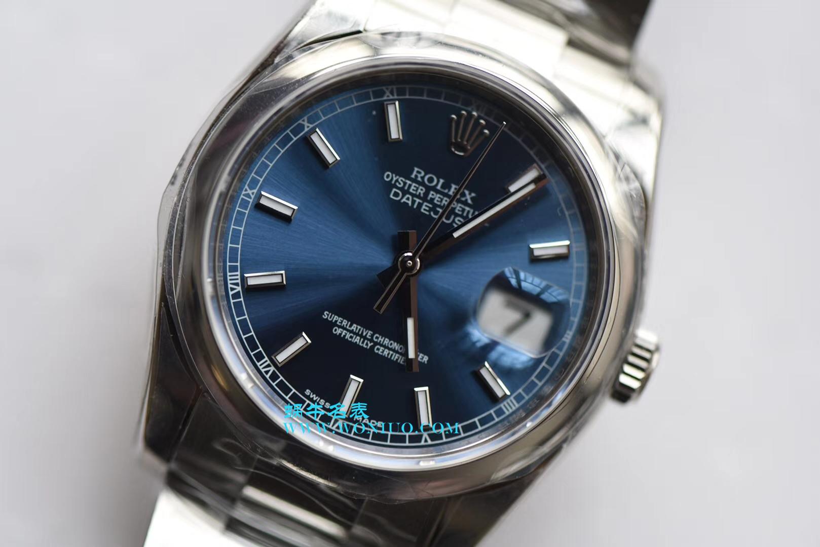 【AR一比一超A高仿手表】劳力士日志型系列116200-72600蓝盘36毫米中性腕表男女均可戴 / R207