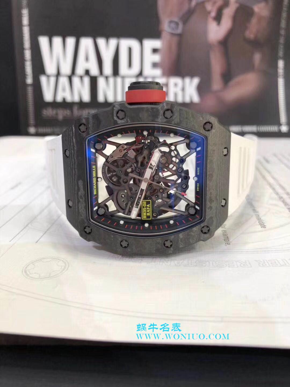 【KV厂顶级复刻手表】理查德.米勒RICHARD MILLE男士系列RM 055碳纤维白色橡胶带新款 / RM 055C