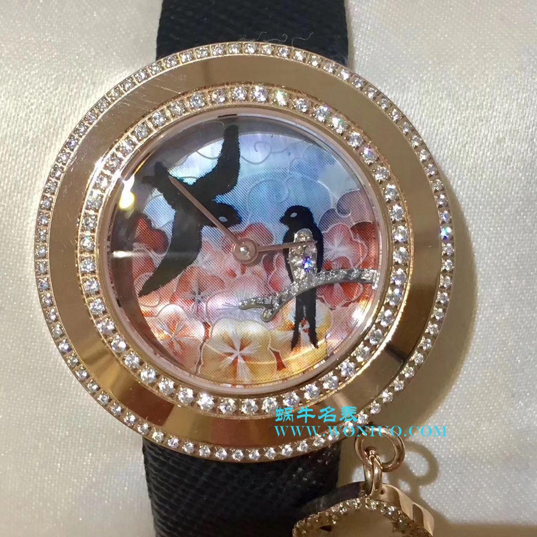 独家实拍 梵克雅宝 喜鹊女士腕表俏皮可爱 寓意深厚 吊坠可以自由转动 / 梵克雅宝VCA04