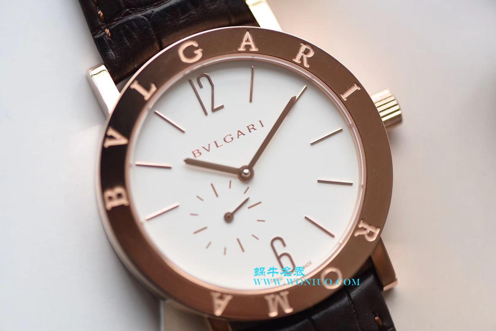 【台湾厂一比一超A高仿手表】宝格丽BVLGARI∙BVLGARI系列102358 BBP41WGLXT腕表