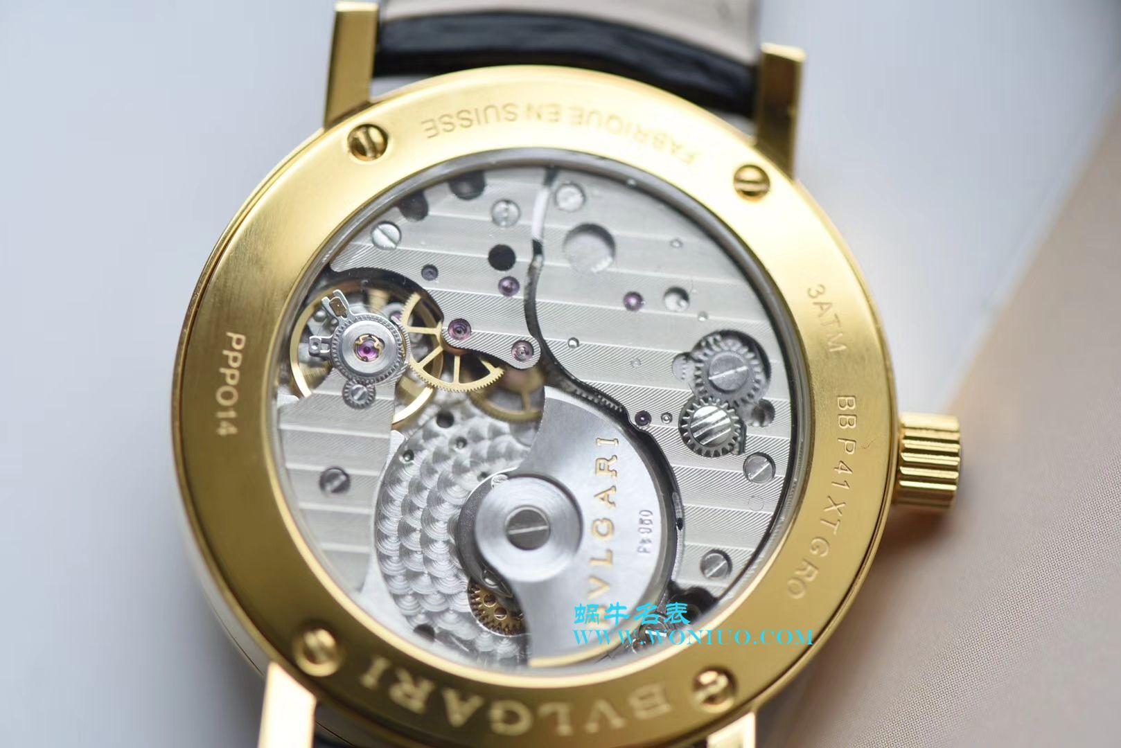 【台湾厂一比一超A高仿手表】宝格丽BVLGARI∙BVLGARI系列102359 BB41BGLXT腕表