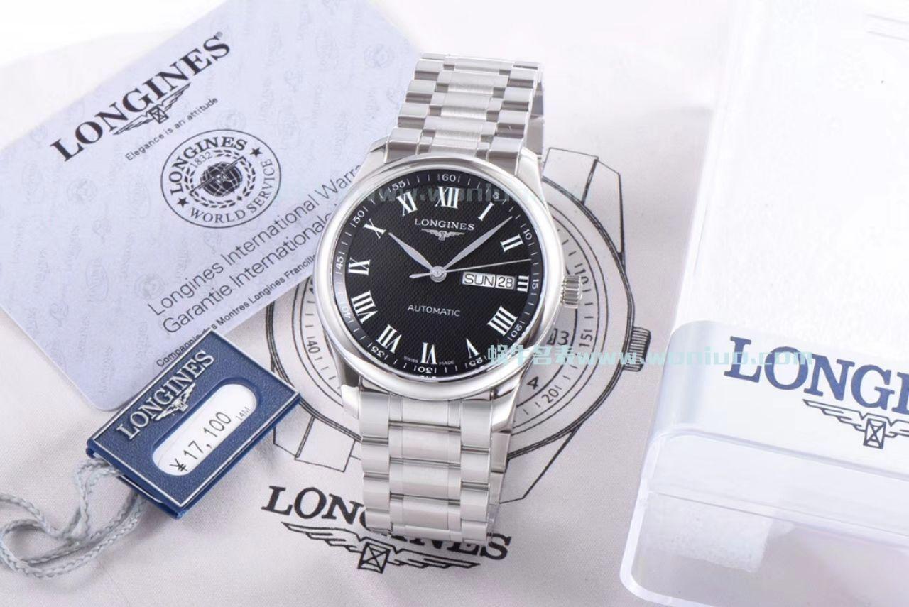 【LG厂顶级复刻手表】浪琴MASTER COLLECTION名匠系列L2.755.4.51.6《钢带》,L2.755.4.51.7《皮带》腕表 / L102