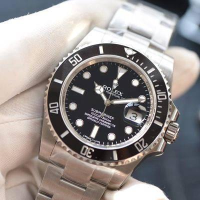 【NOOB厂V8版本一比一超A高仿手表】劳力士潜航者型系列116610LN-97200黑水鬼腕表