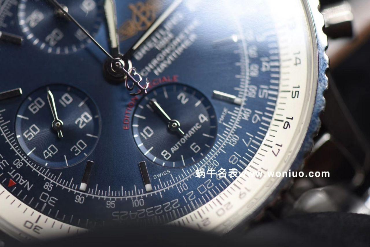 款堪称百年经典!百年灵航空计时原单货蓝面+黑面+皮带+钢带A1332412|C942|451A