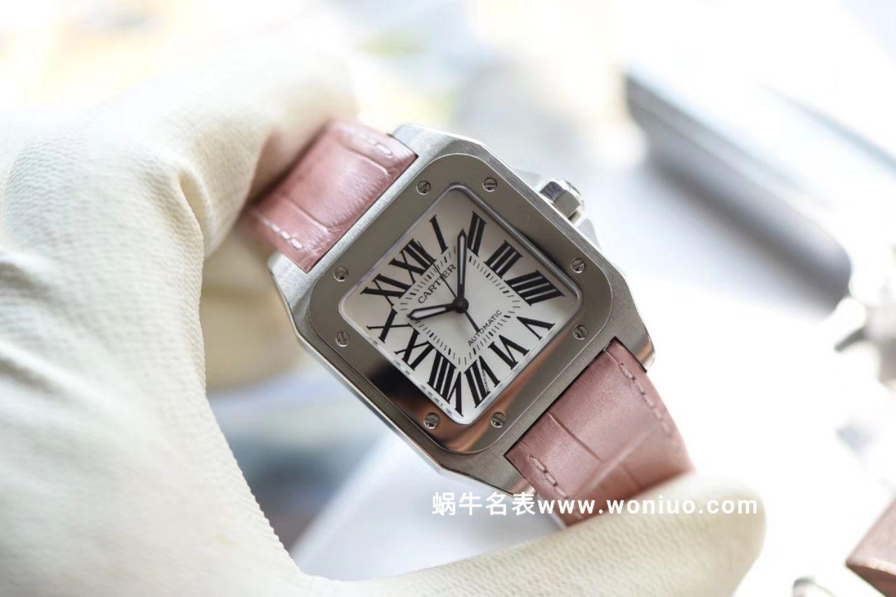 【独家视频测评V6一比一超A高仿手表】卡地亚山度士系列W20126X8 女士机械腕表