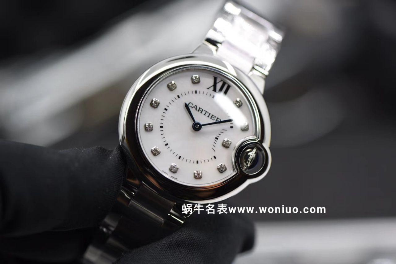 V6出品蓝气球新品~33mm贝母钻丁面石英机芯女士腕表