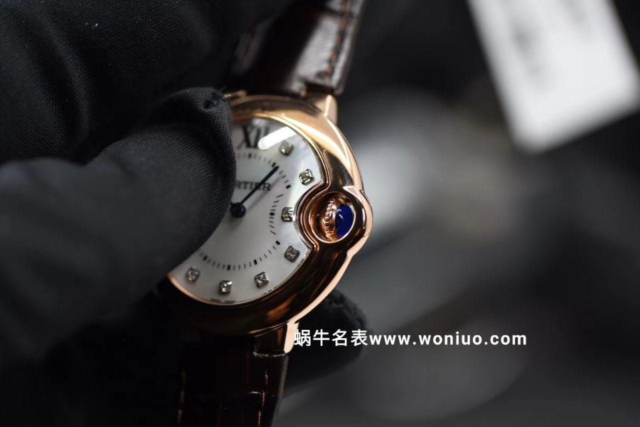 V6出品蓝气球新品~33mm 玫瑰金贝母钻丁面女士石英腕表 / K157