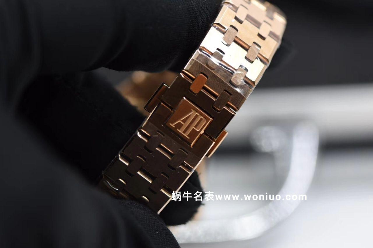 JF厂最高版本AP皇家橡树女装机械款15450 全玫瑰金黑面款