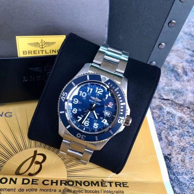 爆款回货【原单】百年灵超级海洋文化系列A17365D1|C915|161A机械腕表