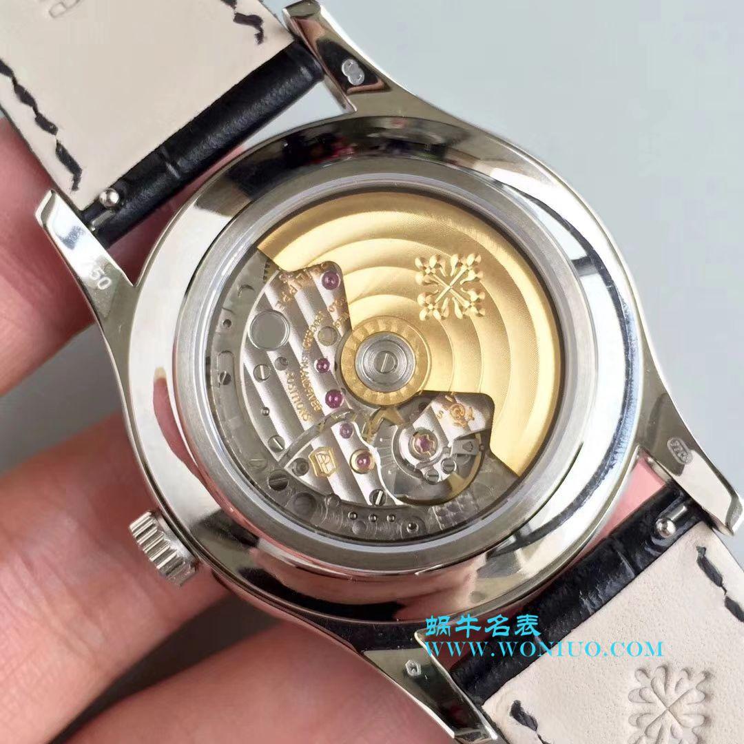 【KM一比一超A高仿手表】百达翡丽复杂功能计时系列5205G-001、5205G-010、5205G-013 白金腕表