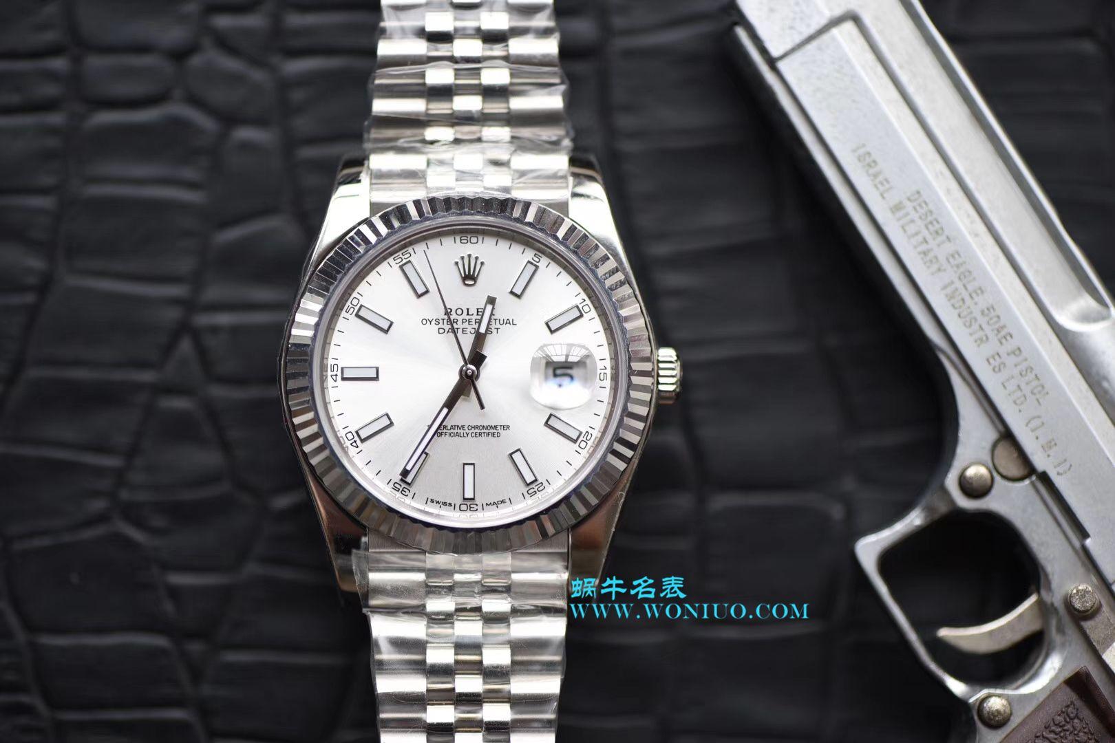 【N厂一比一高仿手表】劳力士日志型系列116334 白盘腕表 / RBD090