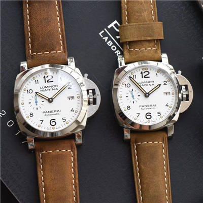 【XF厂顶级复刻手表】沛纳海PAM1523 42MM 女款和 PAM1499 44MM男款情侣手表