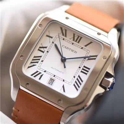 【V6厂一比一超A顶级高仿手表】卡地亚山度士系列WSSA0009男女情侣腕表