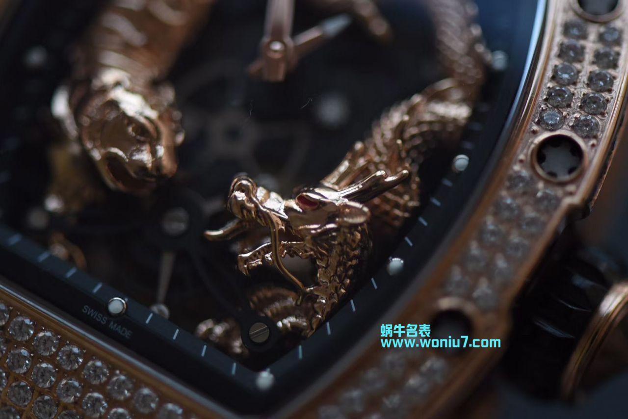 【KV一比一顶级高仿手表】里查德米尔女士系列RM 51-01 TOURBILLON TIGER AND DRAGON - MICHEL腕表 / RM 051