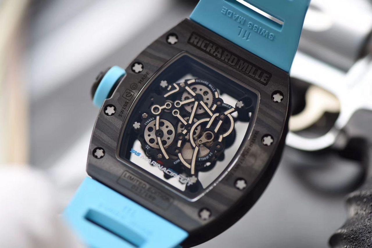 【KV厂顶级复刻手表】理查德.米勒RICHARD MILLE男士系列RM 055碳纤维腕表 / KV RM 055