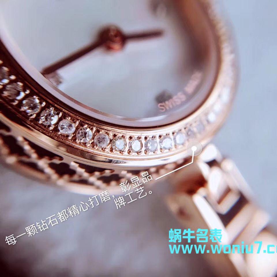 【原单女表】古驰硬货,小小个真钻石英女表,整个表圈镶50颗Vs1.0真钻