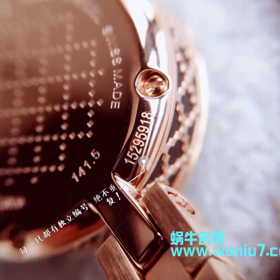 【原单女表】古驰硬货,小小个真钻石英女表,整个表圈镶50颗Vs1.0真钻 / GUCCI KK09