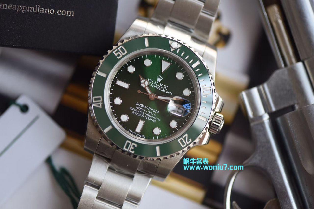 【视频解析DJ顶级复刻手表】劳力士潜航者116610-LV-97200绿水鬼腕表 / R238