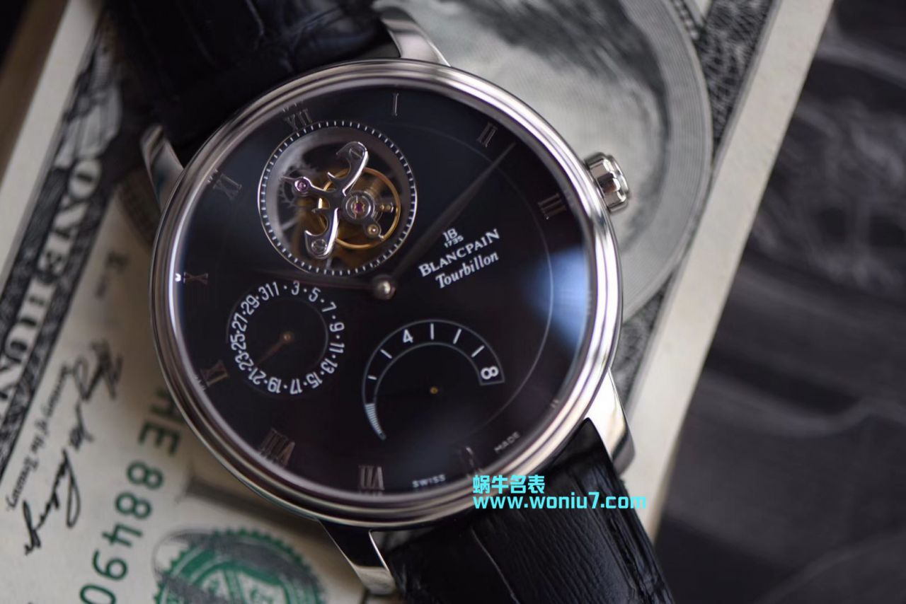 【JB厂复刻仿表】宝珀经典系列6900-3430-55b真陀飞轮腕表 / BP055