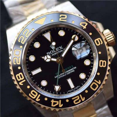 【N厂一比一超A精仿手表】劳力士格林尼治型II系列116713-LN-78203包真金腕表