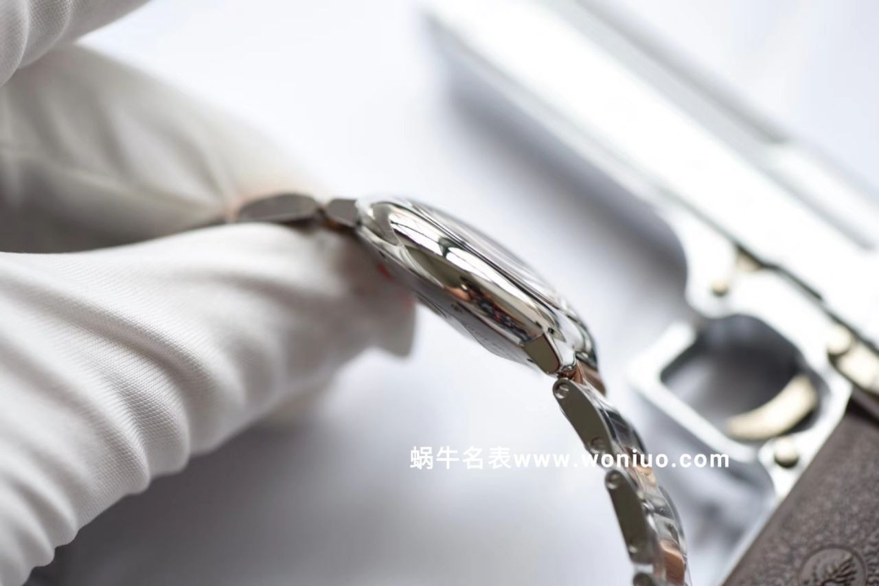 V6厂神器蓝气球新色~间玫瑰金贝母面 33mm直径机械女表 / K155