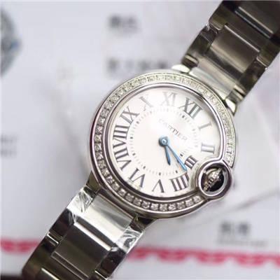 【渠道原单】卡地亚蓝气球系列WE9003Z3腕表28毫米女士真钻石英价格报价