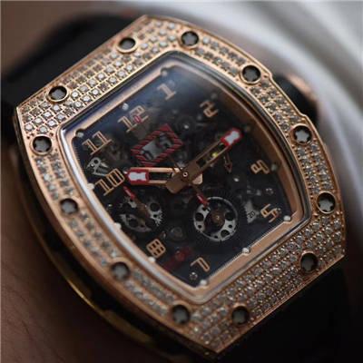 【KV厂一比一顶级复刻手表】理查德.米勒Richard Miller男士系列RM011菲利普_马萨特别版