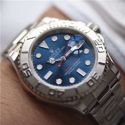 【AR厂顶级复刻手表】劳力士游艇名仕型系列116622蓝盘腕表