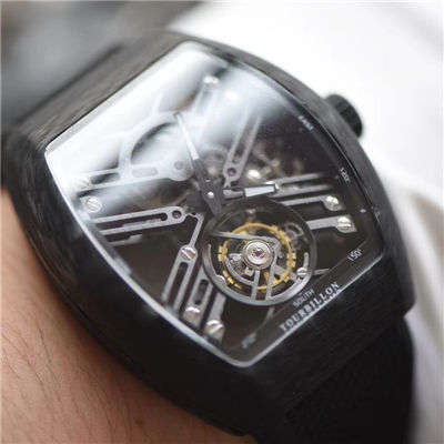 【JB厂顶级复刻手表】法穆兰NEW SARATOGE系列V 45 T SQT CARBONE腕表