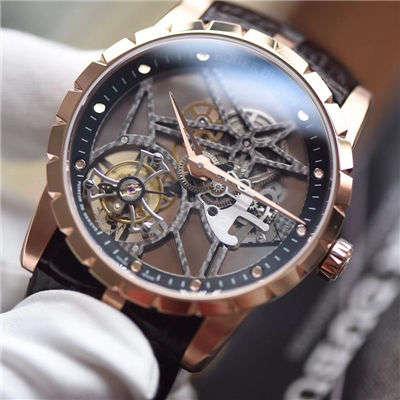【BBR一比一超A复刻手表】罗杰杜彼EXCALIBUR(王者系列)系列RDDBEX0392陀飞轮腕表价格报价